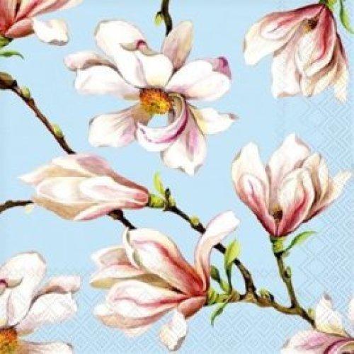 Servietten Magnolia lichtblauw
