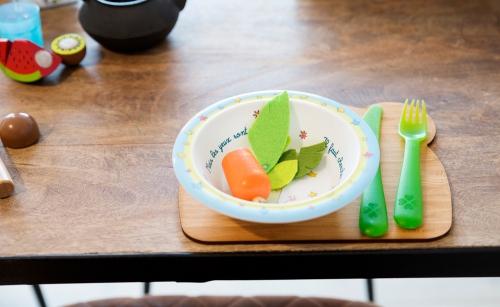 houten eetbordje panda
