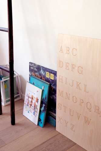 Big wooden poster - ABC