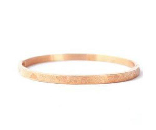 Armband RVS bladeren rose goudkleurig