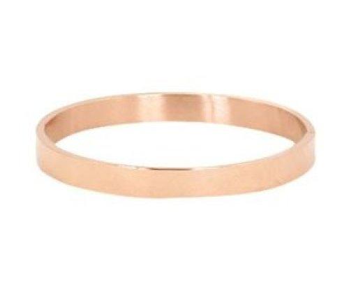 Armband RVS blanco rose goudkleurig