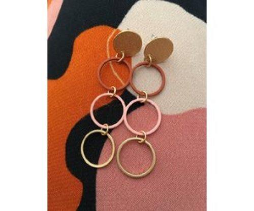 Mix&match stekers cirkels klein roze roest
