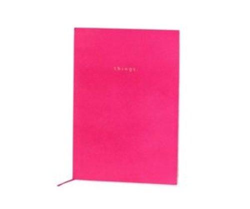 Notaboek velvet roze