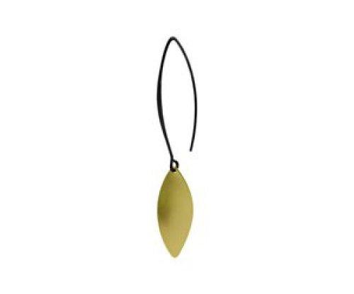 oorbEllen mix&match blaadje goud lange hanger zwart