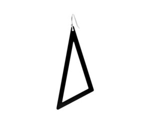 oorbEllen mix&match driehoek XL mat zwart kort zilver