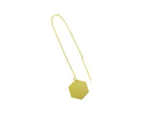 oorbEllen mix&match zeshoekje goud doortrekker goud