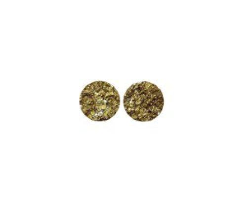 oorbEllen stekers plat 12mm goud