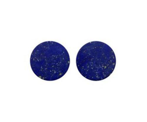 oorbEllen stekers plat 20mm spikkels blauw