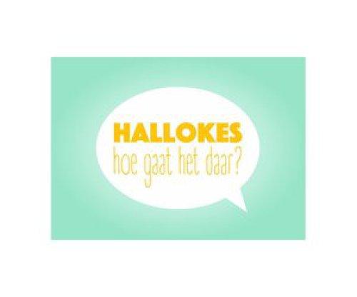 Postkaart Hallokes hoe gaat het daar?