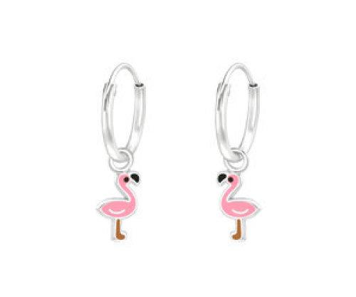 Ringetjes zilver flamingo