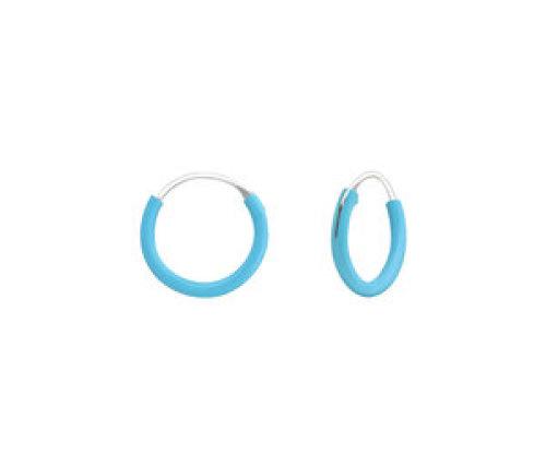 Ringetjes zilver turquoise