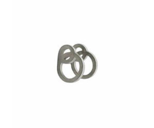 Stekertjes 3D cirkels zilverkleurig