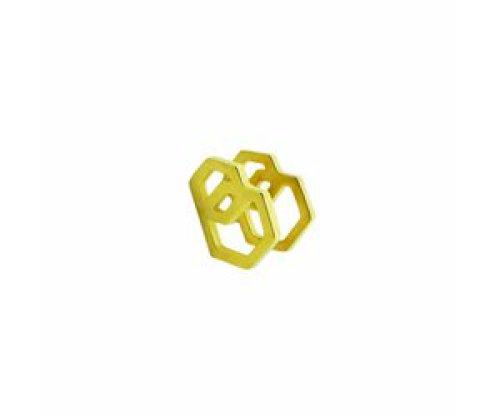Stekertjes 3D zeshoeken goudkleurig