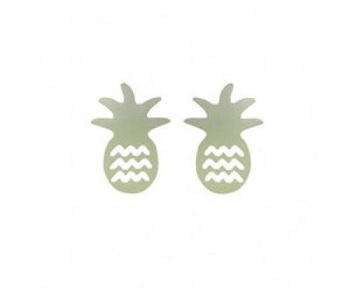 Stekertjes ananas zilverkleurig