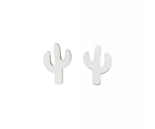 Stekertjes cactus zilverkleurig