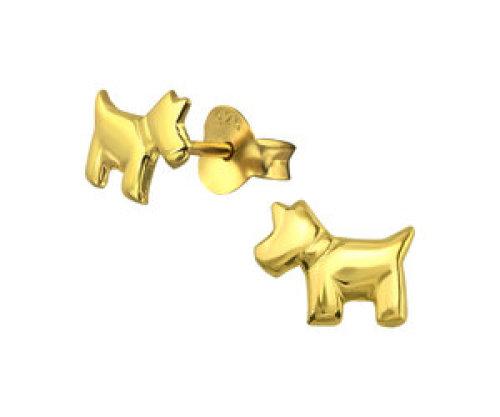 Stekertjes hond goudkleurig