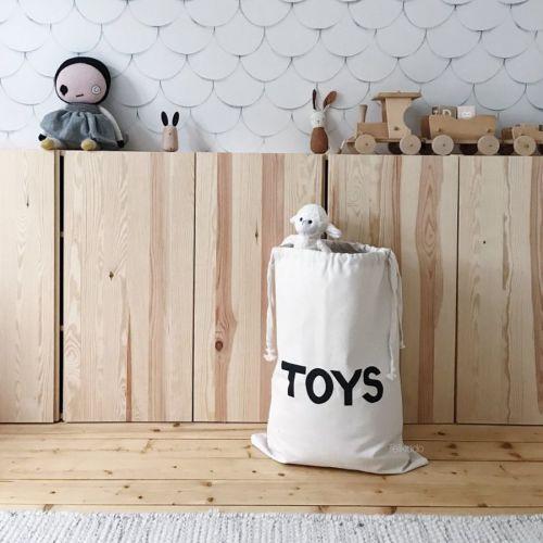 Tellkiddo - katoenen opbergzak large - Toys