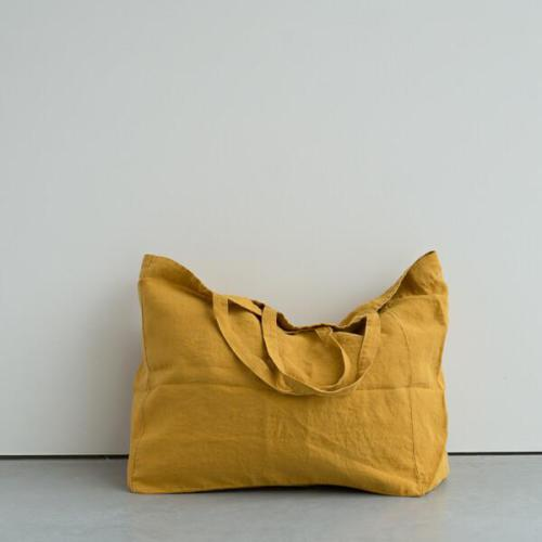 Linge Particulier - linen bag - large - Honey yellow
