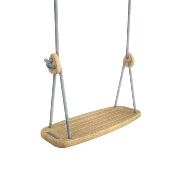 Lillagunga classic schommel - eik - grijze touwen
