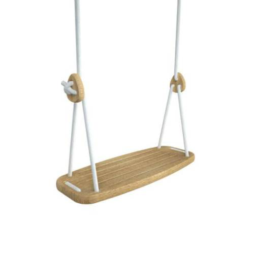 Lillagunga classic schommel - eik - witte touwen