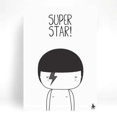 Poster Super Star A4 - Petit Pompier