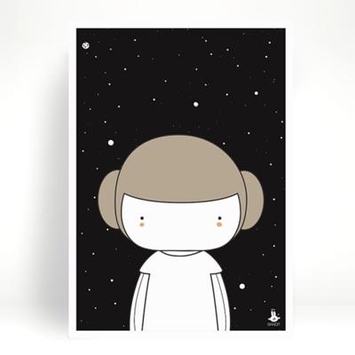 Poster Little Leia A3 - Petit Pompier