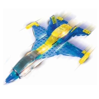Lichtgevende Bouwset Jet 6 in 1