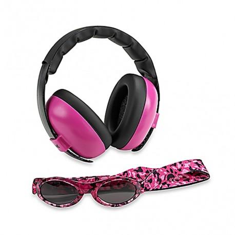 Baby Banz gehoorbescherming baby (roze) + zonnebril