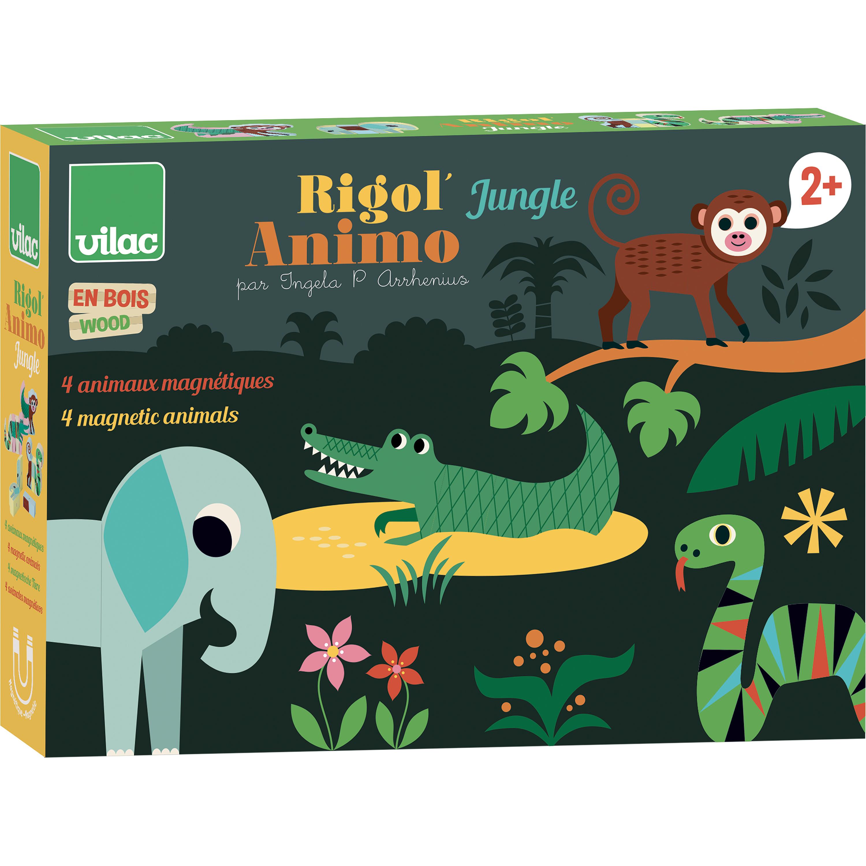 Vilac magneetset jungledieren Ingela P Arrhenius vanaf 2 jaar - www.kidsdinge.com