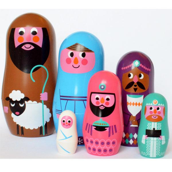 Christmas nesting dolls Ingela