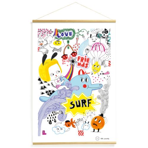 Djeco Surf's party poster 40x60 - www.kidsdinge.com - Brasschaat