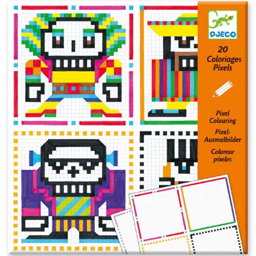 Djeco pixels kleuren Skull boys 7-13j - www.kidsdinge.com