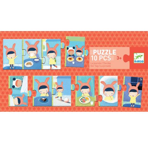 Djeco puzzel mijn dag 10 stuks vanaf 3 jaar - www.kidsdinge.com