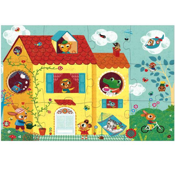 Djeco optische puzzel 20 stuks 3j - Kidsdinge - Cadeautjes voor kids & jezelf