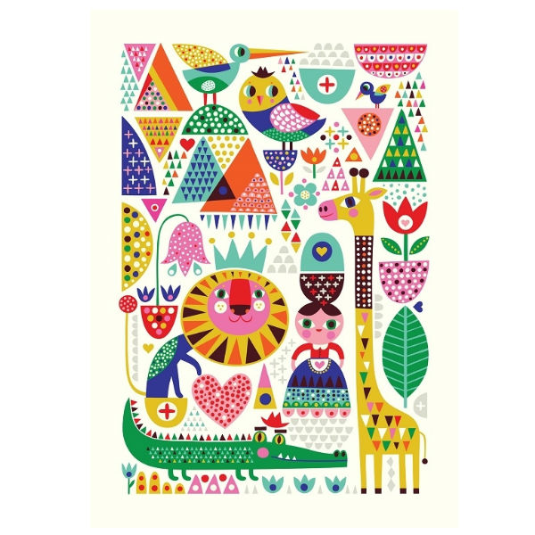 Helen Dardik zoo poster 50x70 - Kidsdinge - Cadeautjes voor kids & jezelf