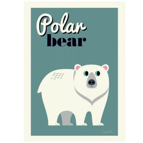 Ingela Polar beer poster 50x70 - www.kidsdinge.com - Brasschaat