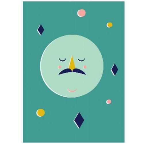 SALE Moon poster confetti 50x70 - www.kidsdinge.com - Brasschaat