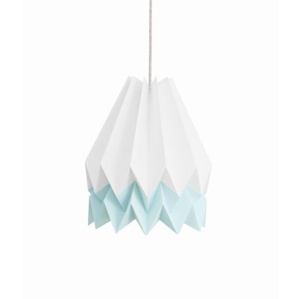 Origami lamp wit lichtblauw - Kidsdinge - Cadeautjes voor kids & jezelf