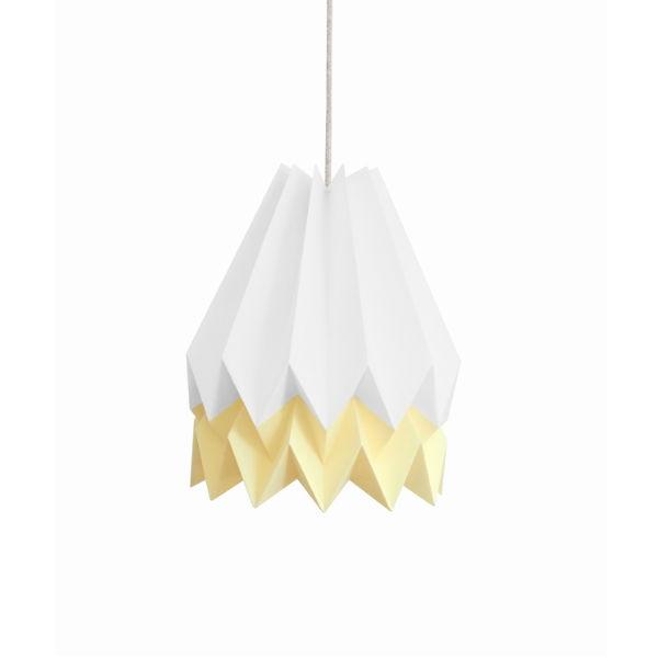 Origami lamp wit pastel geel - Kidsdinge - Cadeautjes voor kids & jezelf