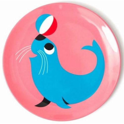 Ingela zeehond eetbord melamine - www.kidsdinge.com - Brasschaat