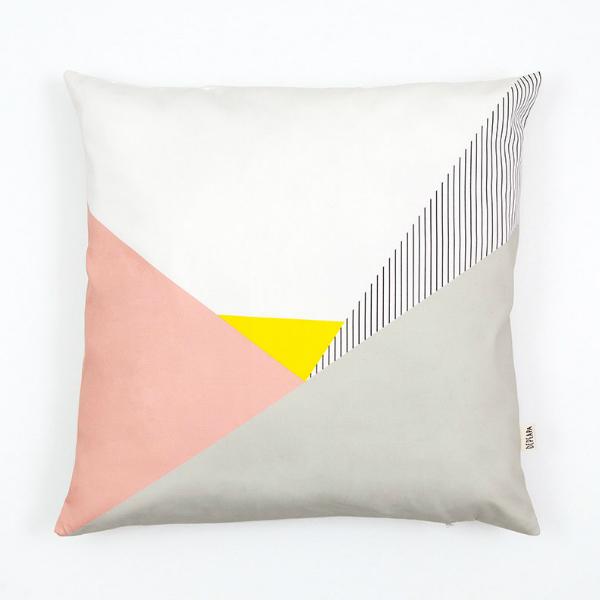 Kussenhoes geometrische en roze pastel prints 50x50 - Kidsdinge - Cadeautjes voor kids & jezelf