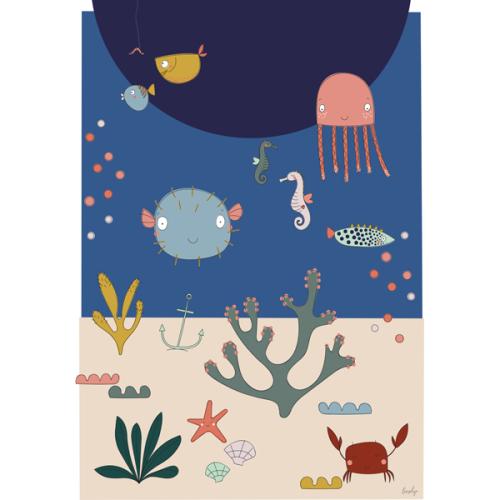 Liezelijn oceaan poster 50 x 70 - www.kidsdinge.com
