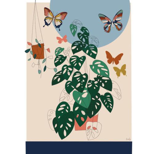 Liezelijn vlinder poster 50 x 70 - www.kidsdinge.com