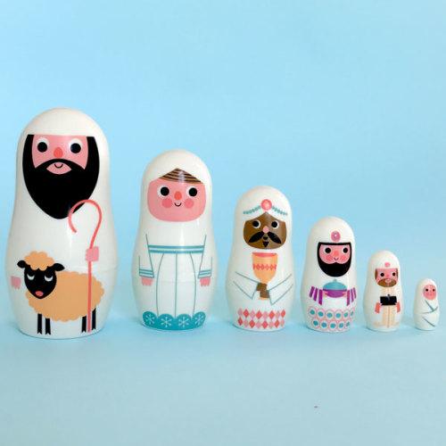 Mini Christmas dolls wit