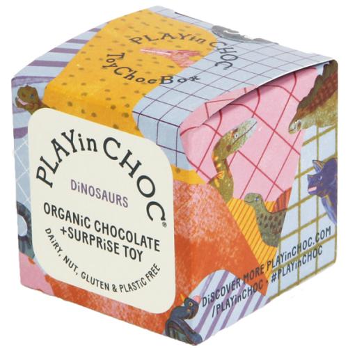Chocolade & surprise - Dinosaurus - Biologisch en glutenvrij - www.kidsdinge.com