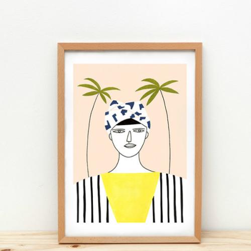 Poster palm girl A3 - www.kidsdinge.com - Brasschaat