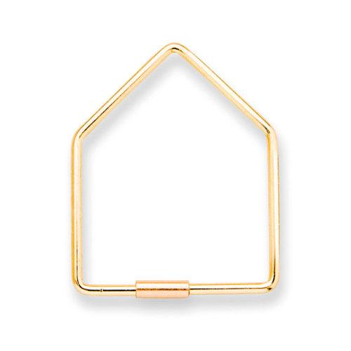 Sleutelhanger home goudkleurig - www.kidsdinge.com