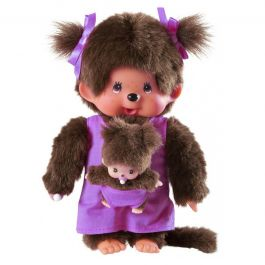 Monchhichi 'Mother Care Paars' 20 cm