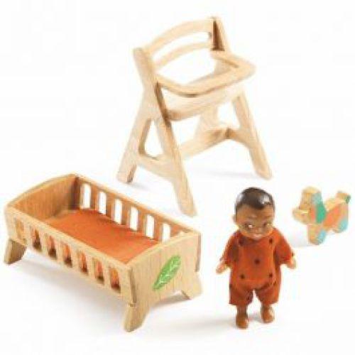 Babykamer voor poppenhuis 'Sweetie'