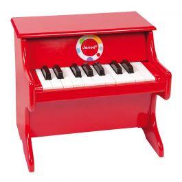 Rode speelgoed piano confetti